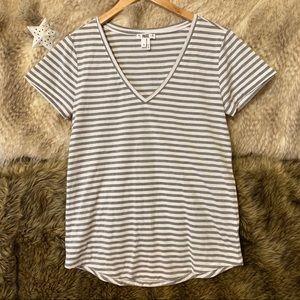 Paige Striped Short Sleeve V-Neck T-Shirt